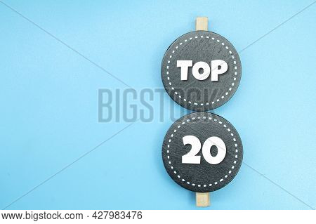 Ebony Circles With Top 20 Words Or Concepts 20. Best Rating Concepts