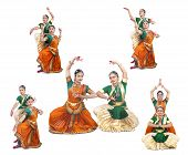 beautiful female Bharathanatyam dancers of Tamil nadu in South India poster