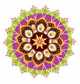 Colorful culture art traditional pattern illustration design poster