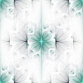 Seamless tileable background for wallpapers high resolution light colors flower fractal pattern poster