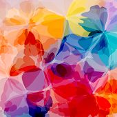 Colorful original watercolor painting background, vectors eps10 poster