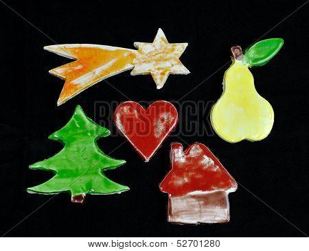 Christmas decorations handmade young children