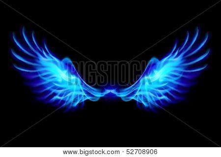 Blue fire wings.
