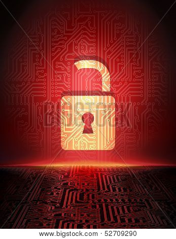 Cyber crime abstract background.