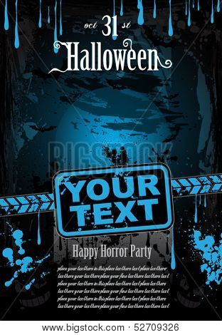 Halloween Fear Horror Party Background for flyers or posters