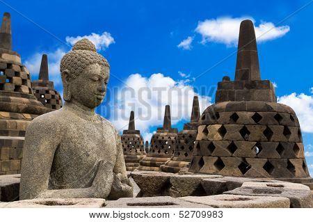 Buddha In Borobudur Temple