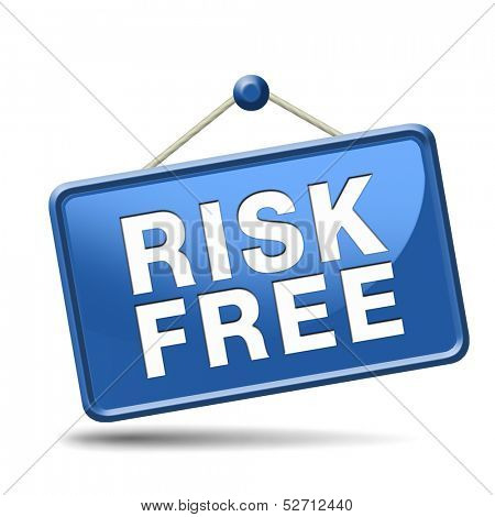 risk free 100% satisfaction high product quality guaranteed safe investment web shop warranty no risks sign icon or safety first banner