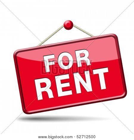 apartment or house for rent banner, renting a room or flat or other real estate sign. Home to let icon.