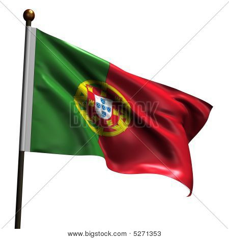 High Resolution Portugese Flag