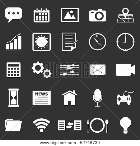 Application Icons On Black Background