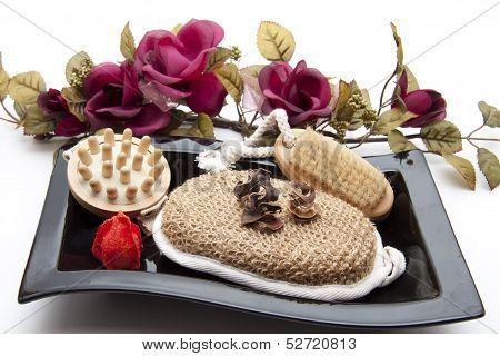 Massage sponge with potpourri