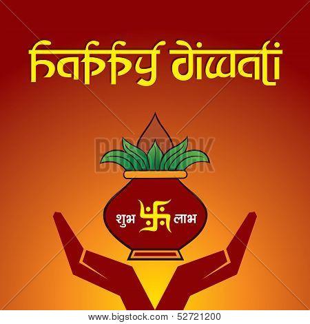 Illustration of diwali greeting background