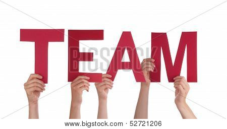 People Holding A Red Team