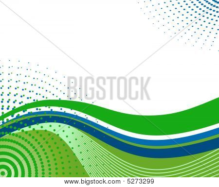 Abstract Spring Background With Waves.