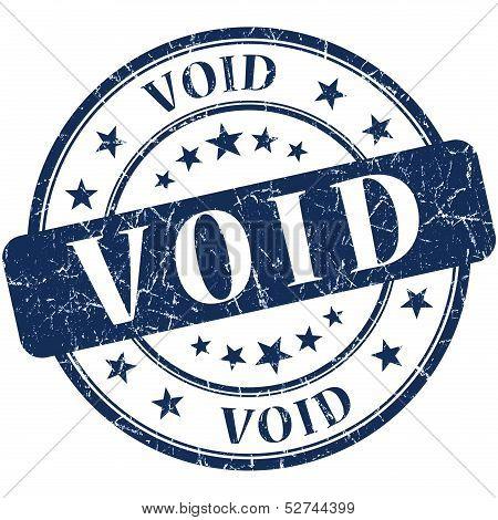 Void Grunge Round Blue Stamp