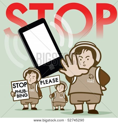 Stop Phubbing Campaign Vector