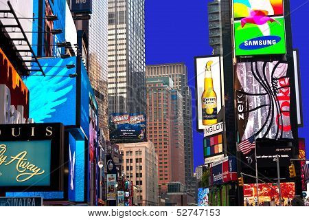 Times Square, Featured With Broadway Theaters