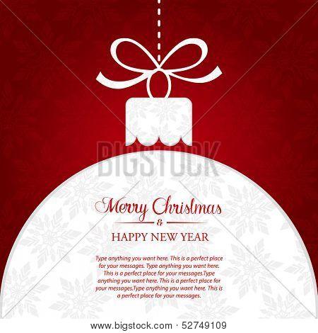Christmas ball greeting banner