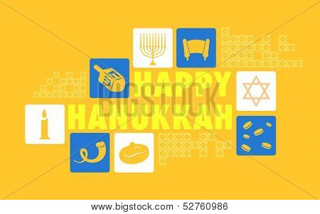 illustration of Happy Hanukkah Background