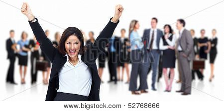 Business people group. Isolated over white background.