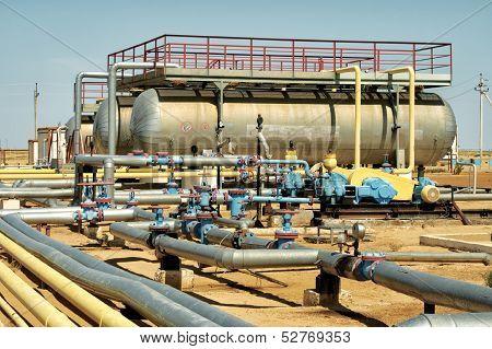 Installation Of Pumping Oil.