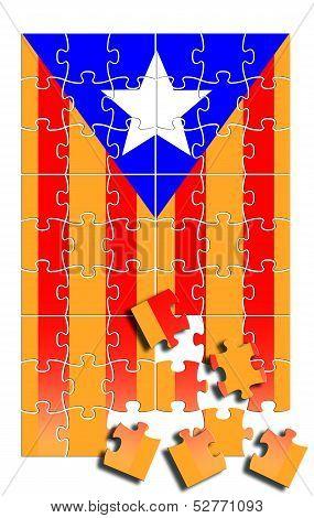 Estelada Flag Illustration With Puzzle Pieces