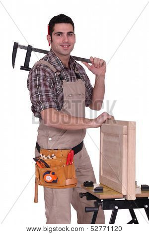 Portrait of a cabinet maker