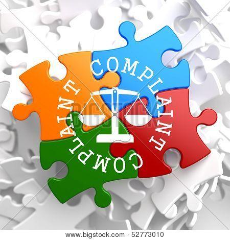 Complaint Concept on Multicolor Puzzle.