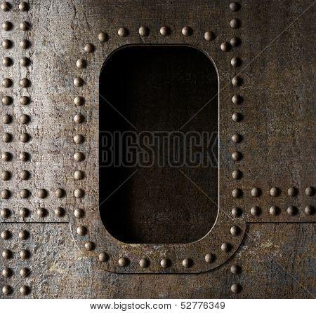old metal porthole background