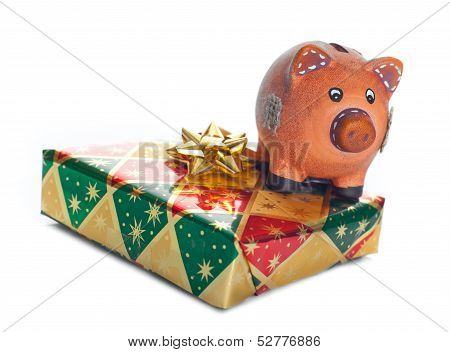 Colorful Gift Boxes With Piggy Bank