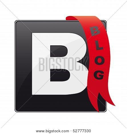 Blog button, icon