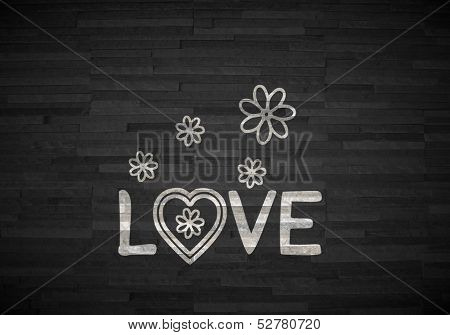 Illustration Of A Creative Love Label  On Noble Stone Texture