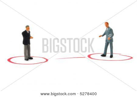 networking business people isolated on white background poster