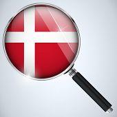 Vector - NSA USA Government Spy Program Country Denmark poster
