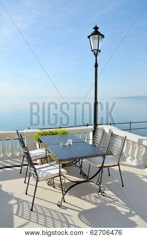 Modern luxurious hotel resort near sea