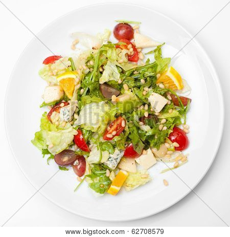 Greek Salad, Top View