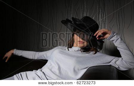 Girl In Black Hat