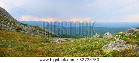 Sunrise In The Ural Mountains