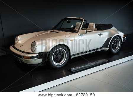 STUTTGART, GERMANY - CIRCA APRIL, 2014: Porsche Museum. PORSHE 911 Turbo Cabrio Studie (1981)