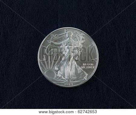 Uncirculated American Silver Eagle Dollar Coin