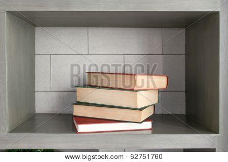 arranging book for decoration