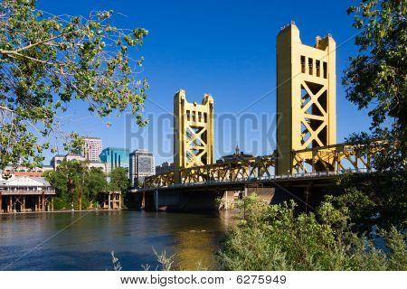 Tower Bridge in Sacramento California