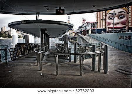 Milsons Point wharf and Luna Park, Sydney