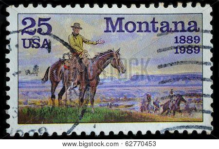USA Postage Stamp, Montana