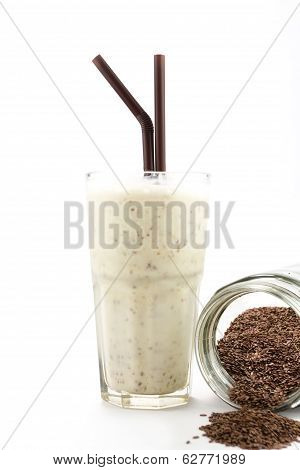 Smoothies Drink With Flaxseeds