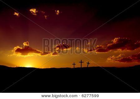 Good Friday Sunset or Easter Sunrise