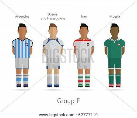 Football teams. Group F
