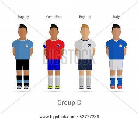 Football teams. Group D