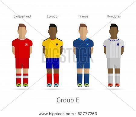 Football teams. Group E