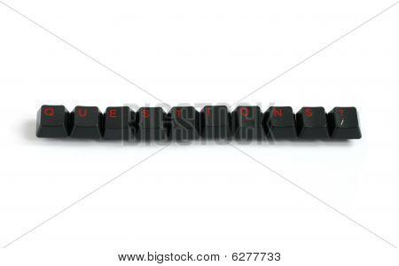 Questions Written With Keyboard Keys In Red